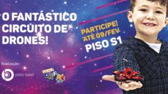 Escola Drone Kids é uma opção de lazer para crianças e adolescentes durante as férias no Pátio Batel.